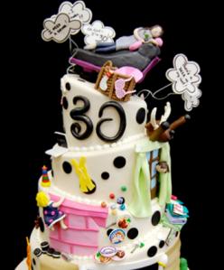 surprise 30 cake